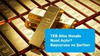 TEB Altın Hesabı Nasıl Açılır? Başvurusu ve Şartları