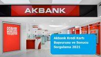 Akbank Kredi Kartı Başvurusu ve Sonucu Sorgulama 2021