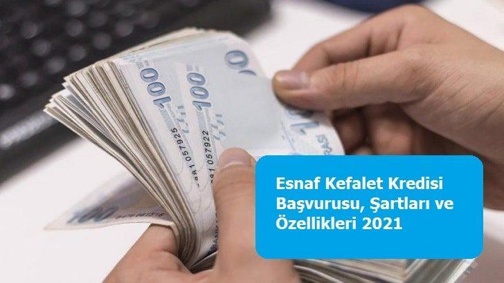 Esnaf Kefalet Kredisi Başvurusu, Şartları ve Özellikleri 2021