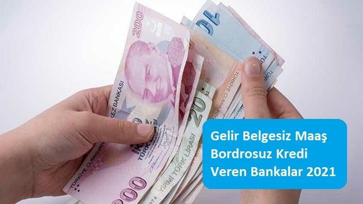 Gelir Belgesiz Maaş Bordrosuz Kredi Veren Bankalar 2021