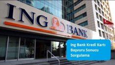 Ing Bank Kredi Kartı Başvuru Sonucu Sorgulama