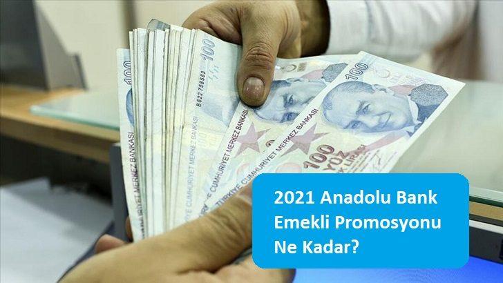 2021 Anadolu Bank Emekli Promosyonu Ne Kadar?