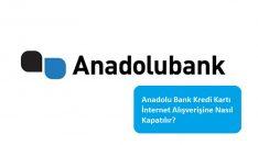Anadolu Bank Kredi Kartı İnternet Alışverişine Nasıl Kapatılır?