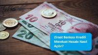Ziraat Bankası Kredili Mevduat Hesabı Nasıl Açılır?