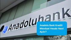 Anadolu Bank Kredili Mevduat Hesabı Nasıl Açılır?