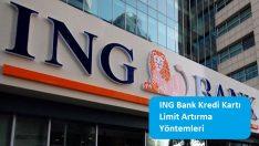ING Bank Kredi Kartı Limit Artırma Yöntemleri