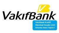 Vakıfbank Kredili Mevduat Hesabı Limit Artırma Nasıl Yapılır?